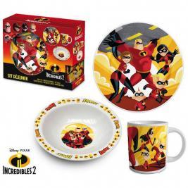 A hihetetlen család - The Incredibles 3 db-os porcelán étkészlet