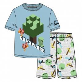 Minecraft rövid ujjú pizsama
