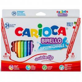Carioca Birello lemosható kétvégű 24 db-os filctoll