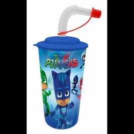 Pizsihősök - Pjmask szivószálas 3D pohár