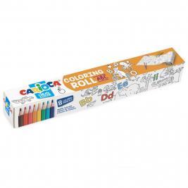 Carioca ABC színező henger 8 db ceruzával