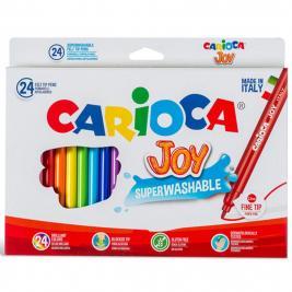 Carioca 24 db-os lemosható, kimosható filctoll szett