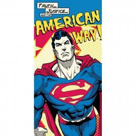 Superman pamut strandtörölköző 70*140 cm