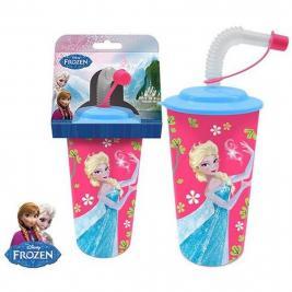 Jégvarázs - Frozen 3D szívószálas pohár
