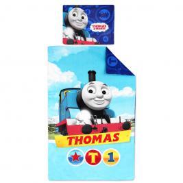Thomas a gőzmozdony 90*140 cm és 40*55 cm ovis ágyneműhuzat